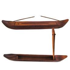 Rökelsehållare, båtformad med fack för rökelser