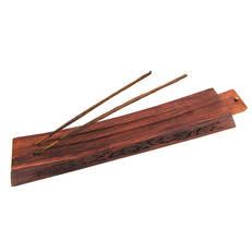 Rökelsehållare, vackert utsmyckad i polerad trä