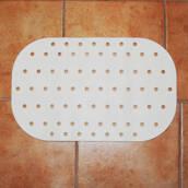 Halkskyddsmatta vit, för badrumsgolv 54x35 cm