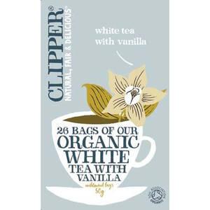 Vitt eko-te med vanilj, Clipper 26 påsar