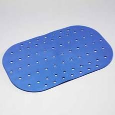 Halkskyddsmatta blå, för badrumsgolv 54x35 cm